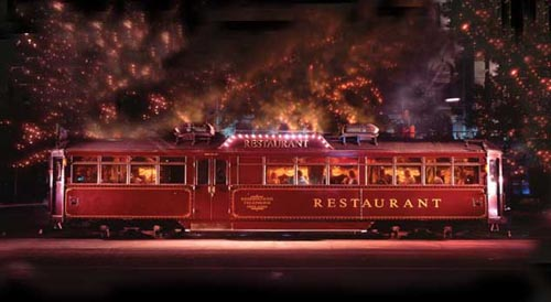 Quirkiest places to eat around the world - The Colonial Tramcar Restaurant