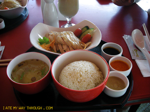 hainanese chicken rice at Chatterbox, Singapore