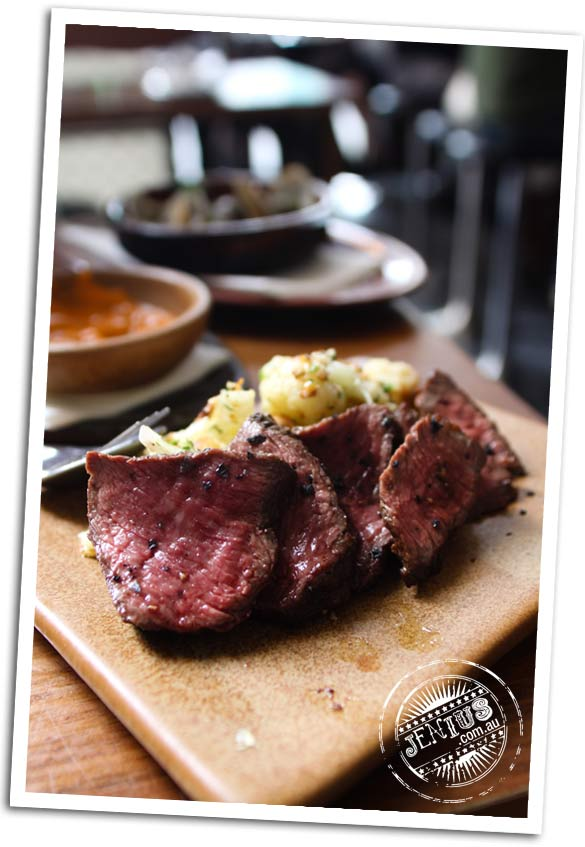 Movida Next Door, Melbourne -  black angus rump cap chargrilled with cauliflower and almonds