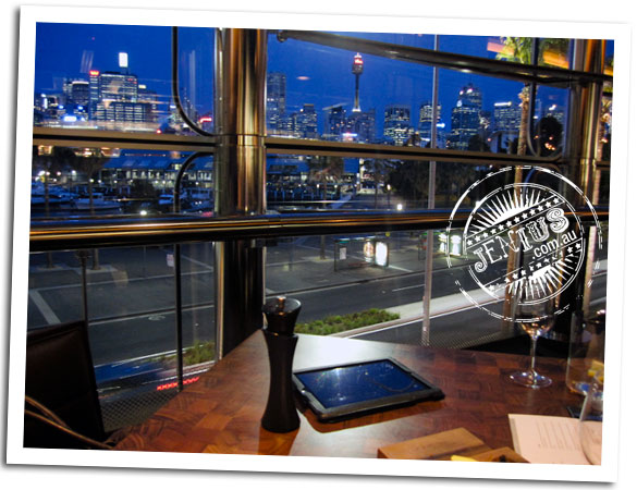 Black By Ezard at The Star Sydney - view of city lights
