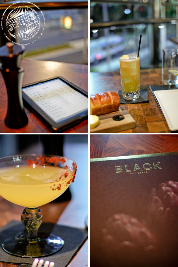 Black By Ezard at The Star Sydney -ipad menu and cocktails