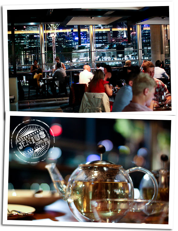 Black By Ezard at The Star Sydney - tea and view