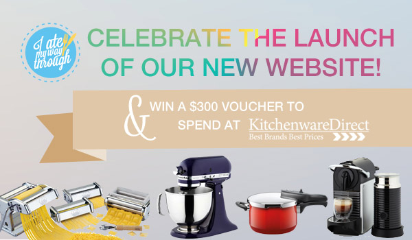Celebrate the launch of our new website and win a $300 voucher to spend at Kitchenware Direct