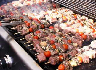Lamb skewers at Sydney Cove Oyster Bar - Good Food Month event, Harbourside Beach Barbie