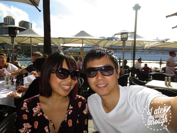 Jen and Zen from I Ate My Way Through  - Sydney Cove Oyster Bar Harbourside Beach Barbie, Good Food Month 2013 event