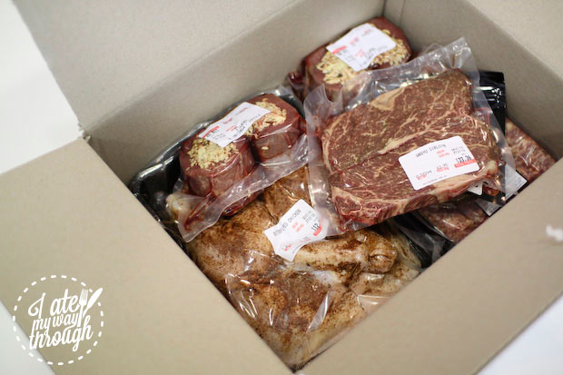 Box of meats from Butcherman