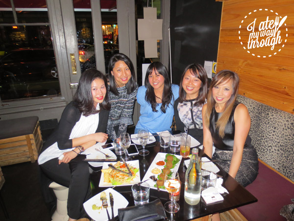 Group photo of girlfriends at Yulli's in Surry Hills