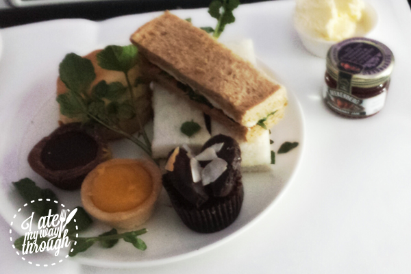 Luke Mangan prepeared high tea service for Virgin Australia
