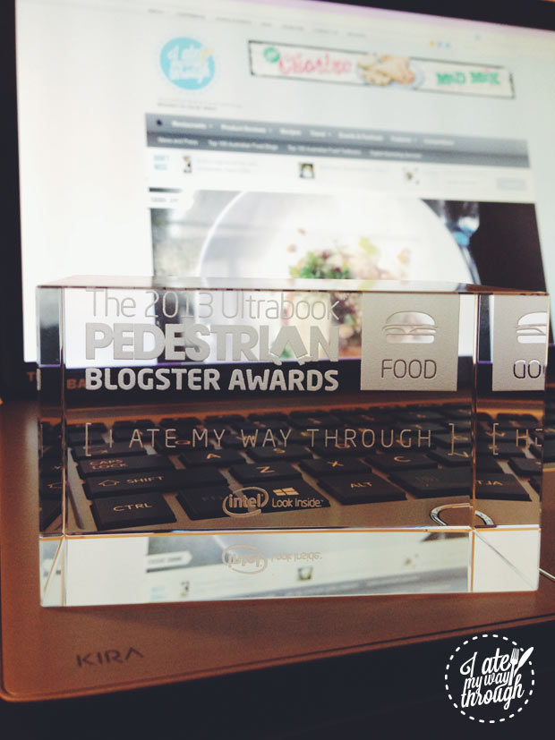Blogster glass trophy