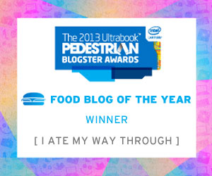 I Ate My Way Through - award winning food and travel blog - Pedestrian TV Blogster Award 2013 Australian Online Media