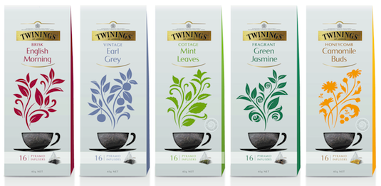 Twinings new pyramid infusers collection
