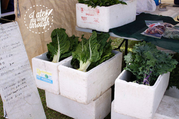 Kale and Asian greens, Airlie Beach Markets