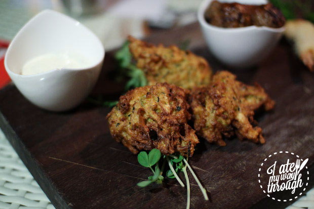 Zucchini fritters, Denman Cellars Beer Cafe, Airlie Beach
