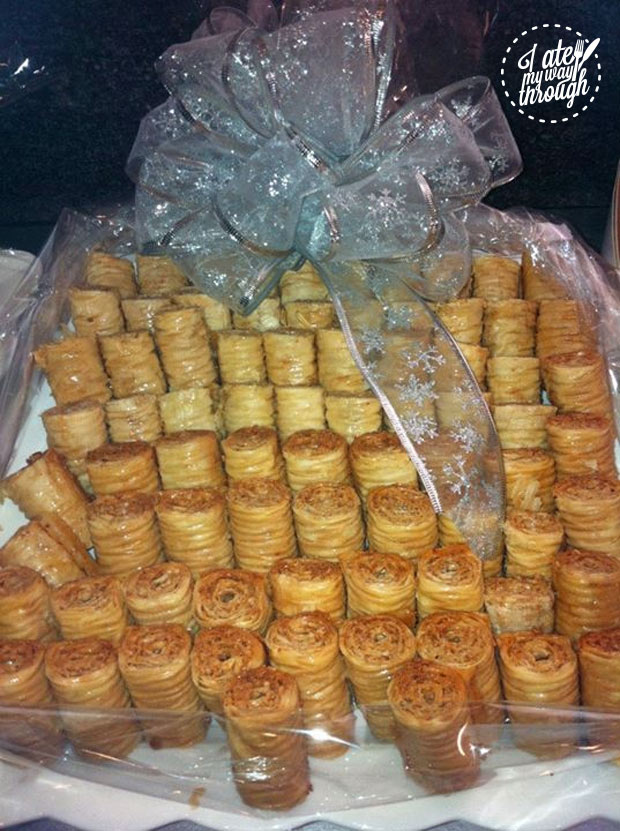Baklava from Abla's Pastries at Christmas