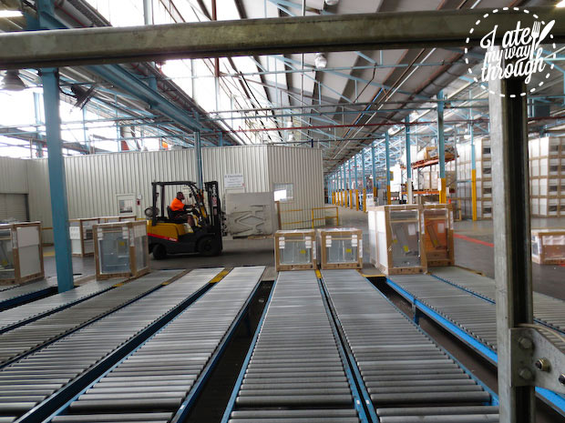 Electrolux Cooking Manufacturing Plant Adelaide tour - finished goods storage and dispatch