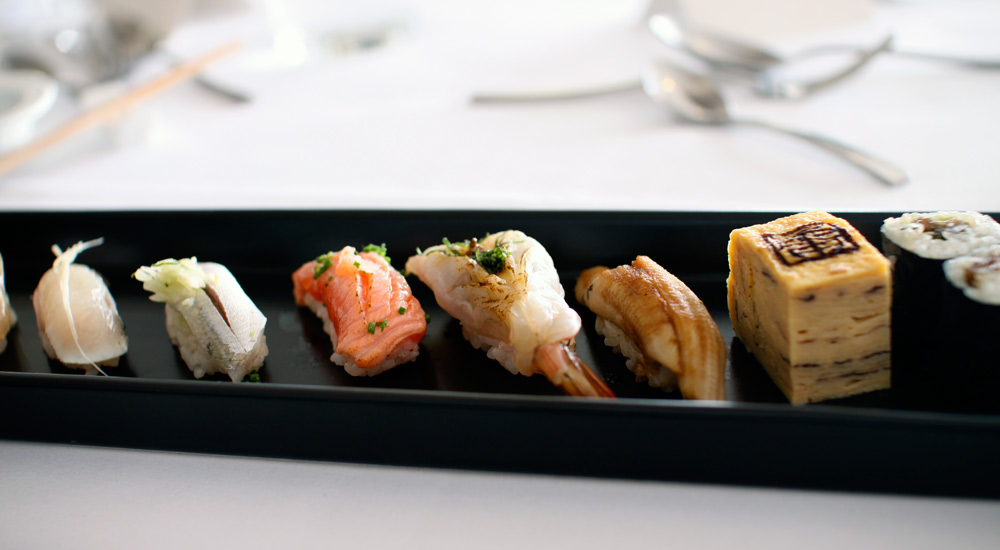 Sushi, tokyo style at Ocean Room during Tokyo Lunch promotion