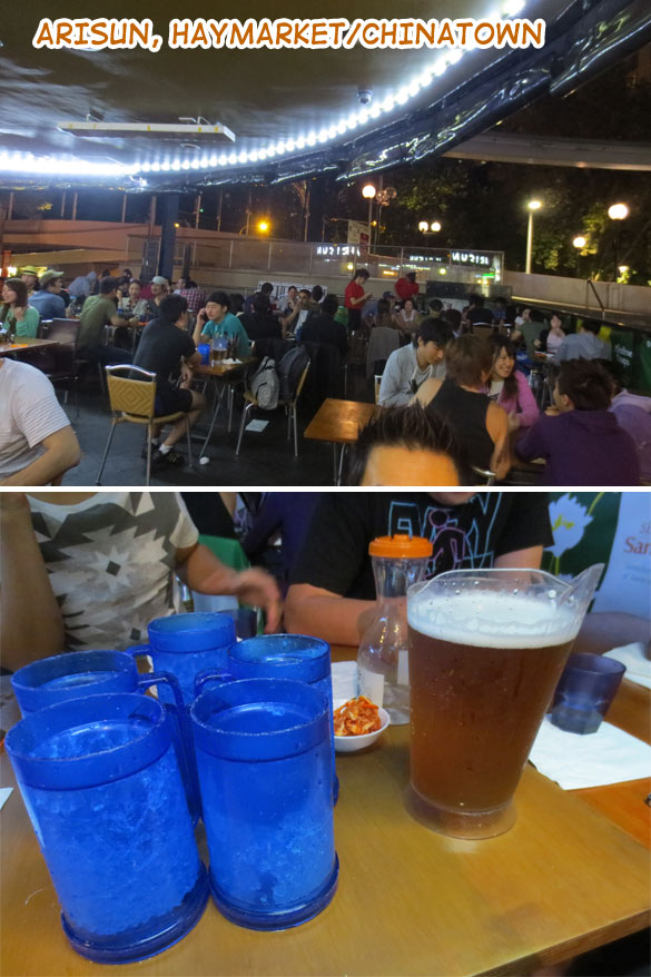 Outdoor dining, beers and Korean fried chicken at Arisun, Sydney