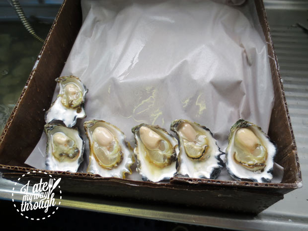 Fresh Clyde River oysters