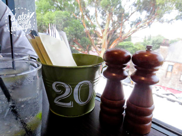 Cutlery bucket, The Botanical, Leichhardt