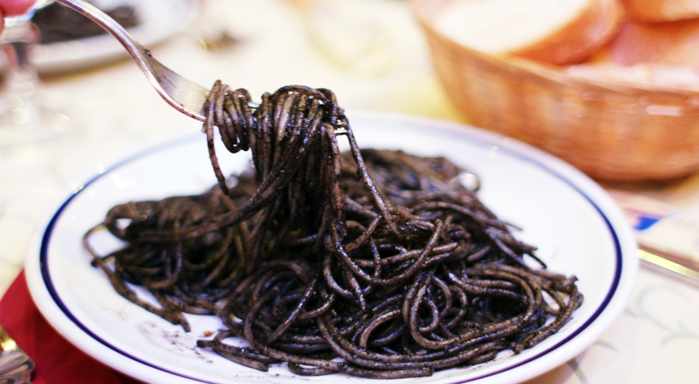 Squid Ink Pasta, Venice, Italy