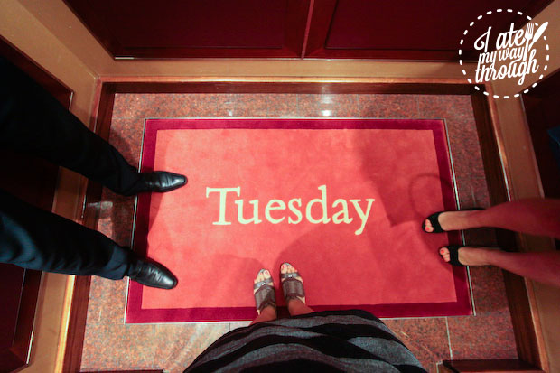 Day of the week carpets on Holland America Line
