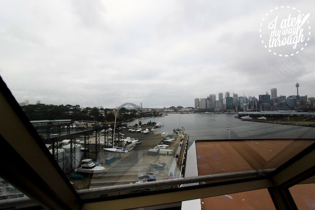 Sydney Harbour view onboard Holland America Line ms Amsterdam at White Bay