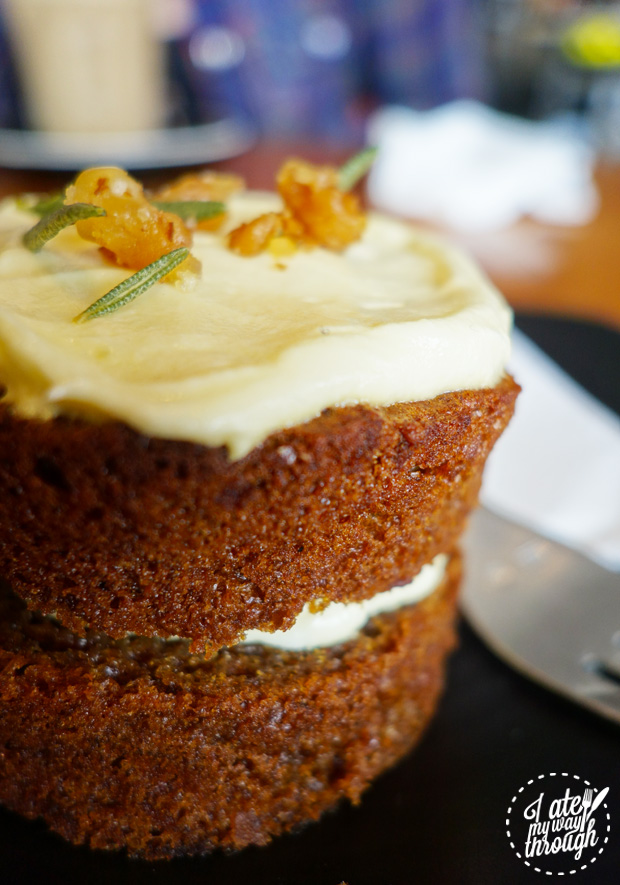 carrot cake, cake, west juliett, cafe