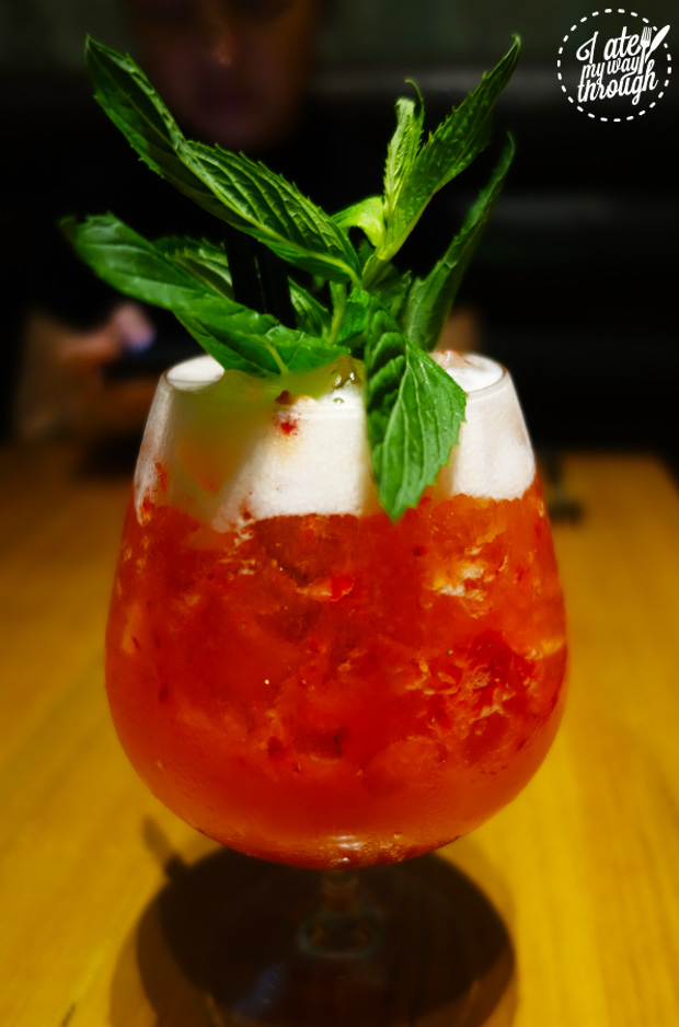 cocktail, vodka, strawberry, drink, mint