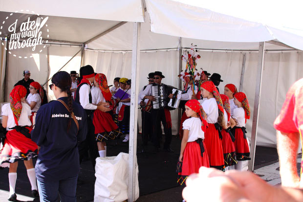 Dancers and performances on stage - Bairros Portugues Petersham Festival 2014