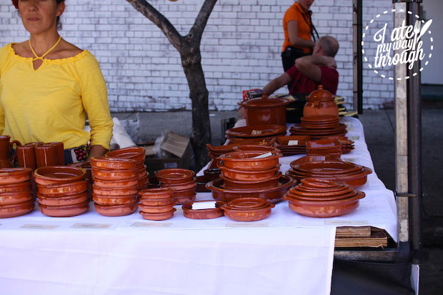 Traditional tableware - Bairros Portugues Petersham Festival 2014