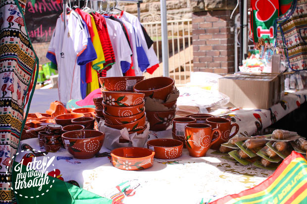 More traditional servingware - Bairros Portugues Petersham Festival 2014