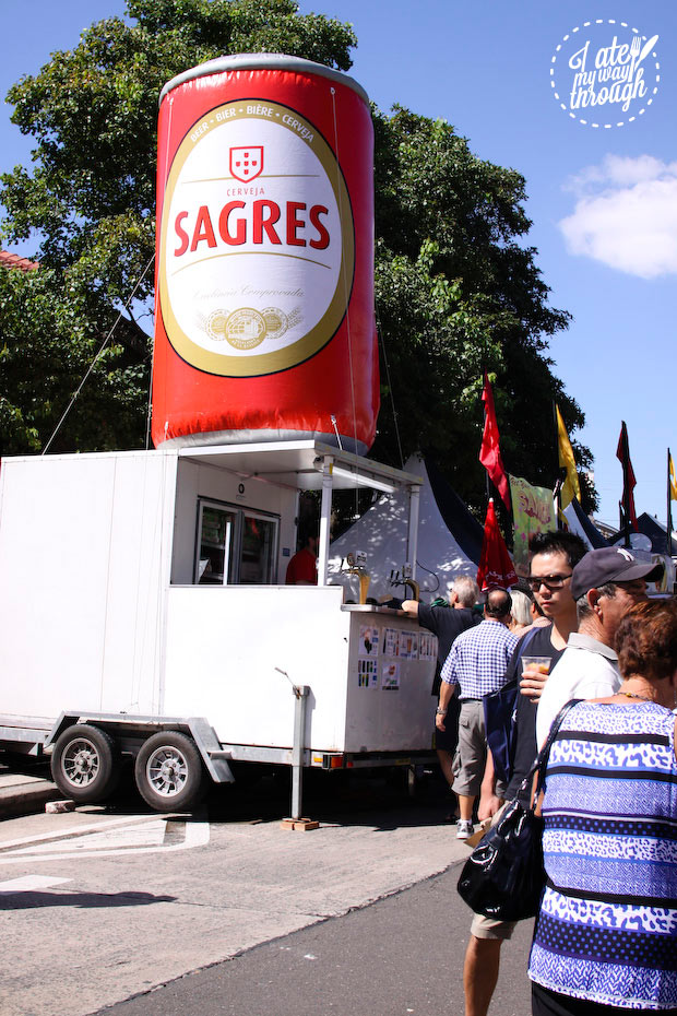 Sagres beer - Bairros Portugues Petersham Festival 2014