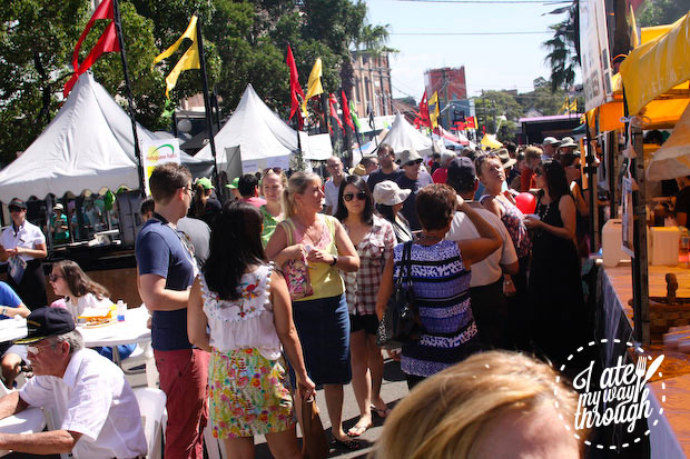 Lots of people - Bairros Portugues Petersham Festival 2014