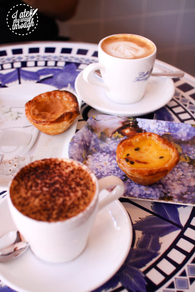 Coffee and Portuguese tarts at Sweet Belem Petersham