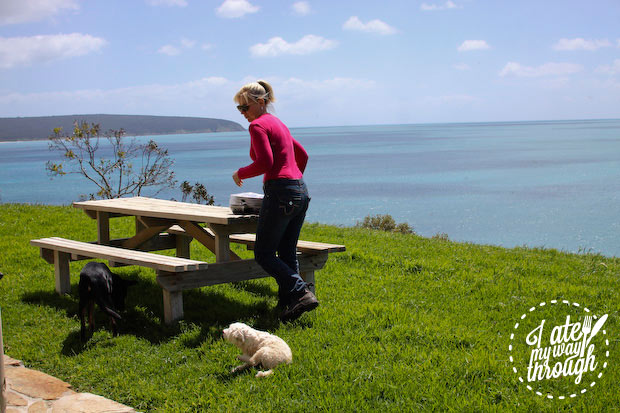 Private picnic table at Kangaroo Island