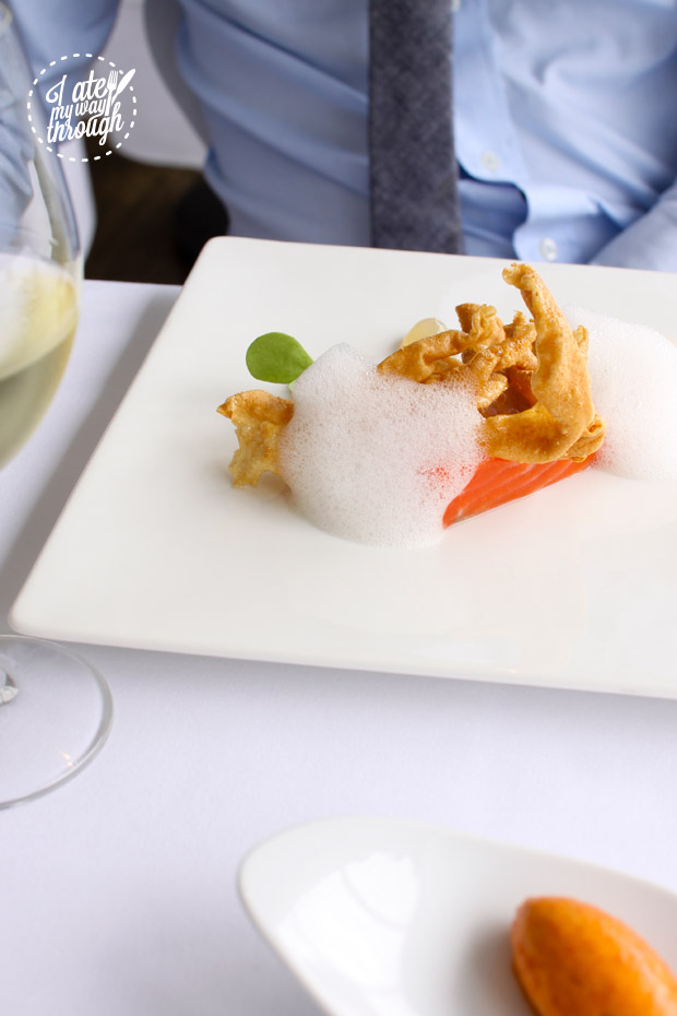 ocean trout, smoked milk and dashi