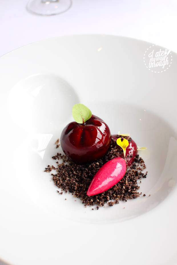 goat cheese, beetroot and licorice