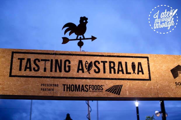Tasting Australia 2014 South Australia food festival sign