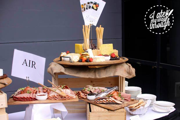 Cured meats and cheese platter, Tasting Australia 2014