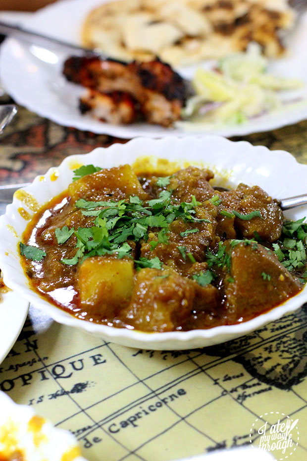 Potato and gourd curry