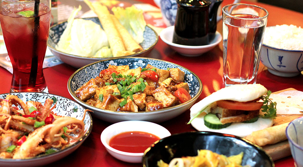 A veritable feast of dishes at Oriental Teahouse