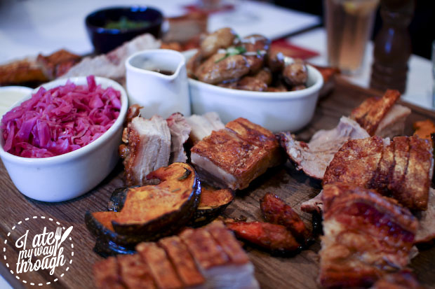 pork belly; roast; potato