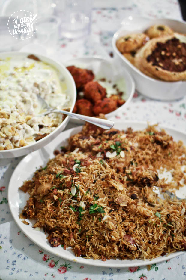 Lebanese fatteh and biryani