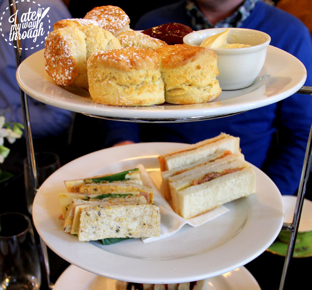 Scones and finger sandwich selection