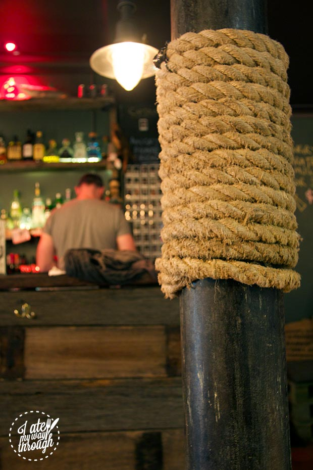Ropes in the bar