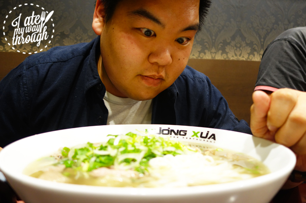 Dave and the bowl of pho