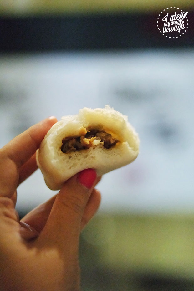 Inside of Galbi Pork Bun