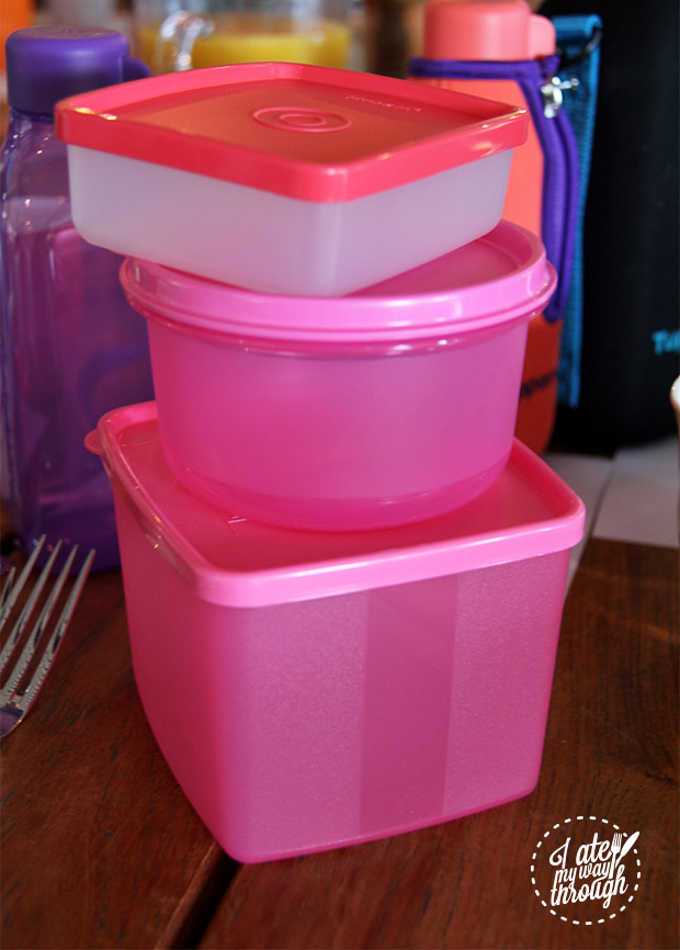 Stack of tupperware