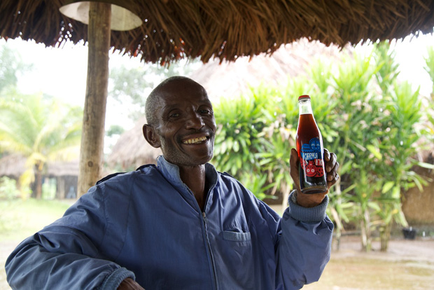 Chief Hindowa Kamara and Karma Cola