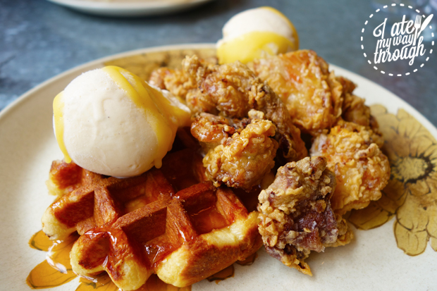 chicken and waffles; fried chicken; chicken; rupert and ruby; icon park